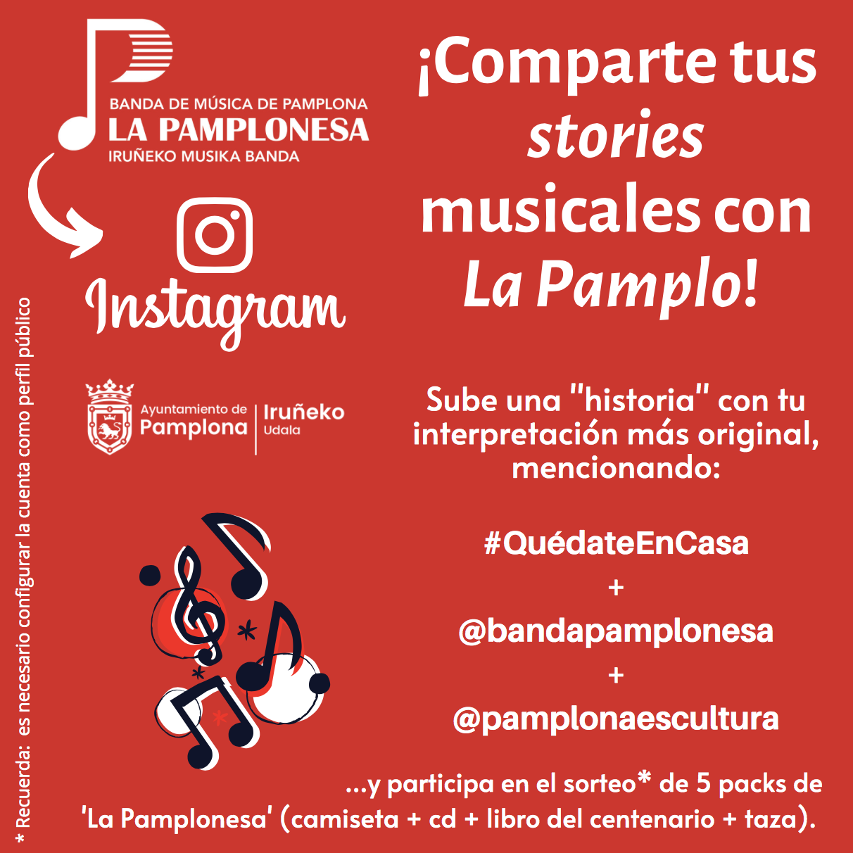 Comparte stories musicales con La Pamplo